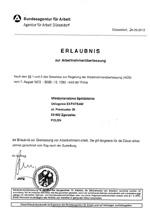 Erlaubnis zur gewerbsmäßigen Arbeitnehmerüberlassung in Deutschland